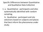specific differences between quantitative and qualitative data collection