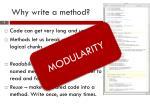 why write a method1