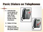 panic dialers on telephones1