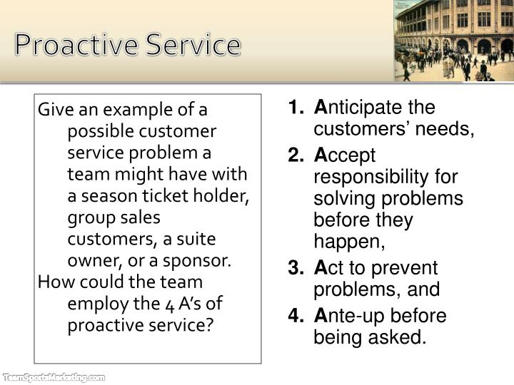 Proactive Service
