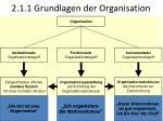 2 1 1 grundlagen der organisation