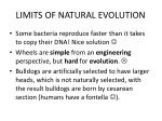 limits of natural evolution