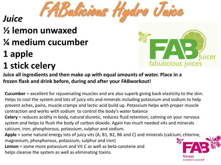 Fabulicious hydro juice