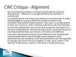 cwc critique alignment1
