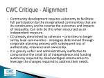 cwc critique alignment2