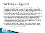 cwc critique alignment3