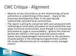 cwc critique alignment4