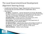 the local government local development alignment steering group