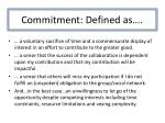 commitment defined as