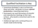 qualified facilitation i s key