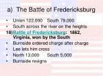 a the battle of fredericksburg