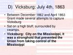 d vicksburg july 4th 1863