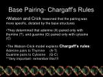 base pairing chargaff s rules
