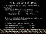 fredrick griffith 1928