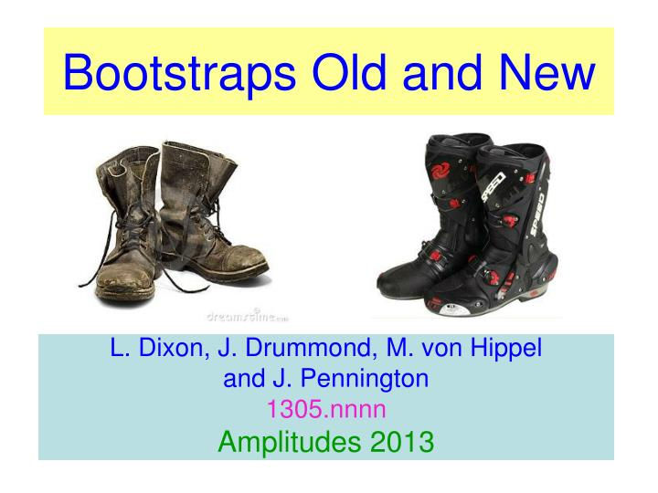 bootstraps old and new n.