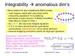 integrability anomalous dim s