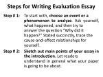 steps for writing evaluation essay