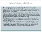 wilson s tour and collapse1