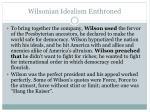 wilsonian idealism enthroned1
