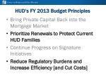 hud s fy 2013 budget principles