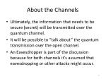 about the channels