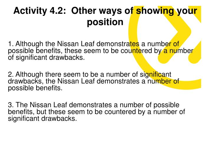 Activity 4.2:  Other ways of showing your position