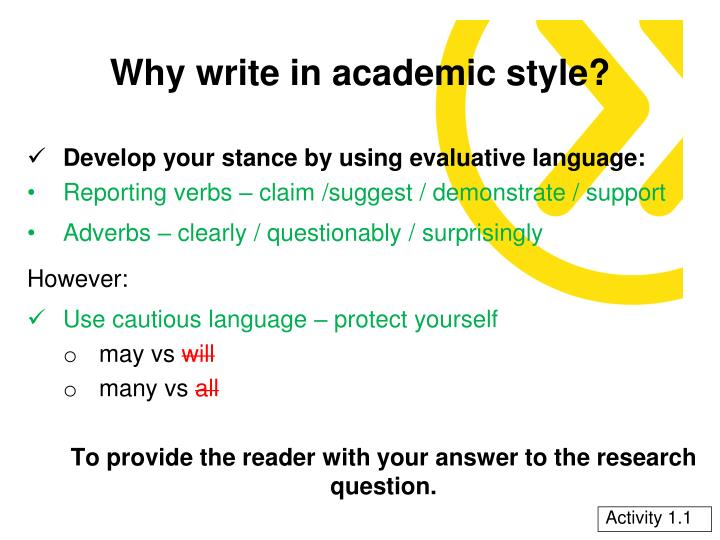 Why write in academic style2