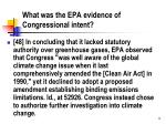 what was the epa evidence of congressional intent