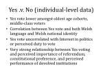 yes v no individual level data