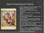 david composing the psalms