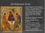 old testament trinity