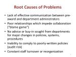 root causes of problems