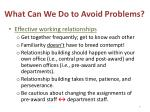 what can we do to avoid problems1