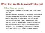 what can we do to avoid problems3