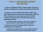 2010 11 governor s budget csu details