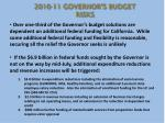 2010 11 governor s budget risks1