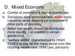 d mixed economy