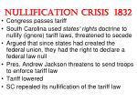 nullification crisis 1832