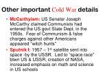 other important cold war details