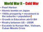 world war ii cold war