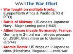 wwii the war effort