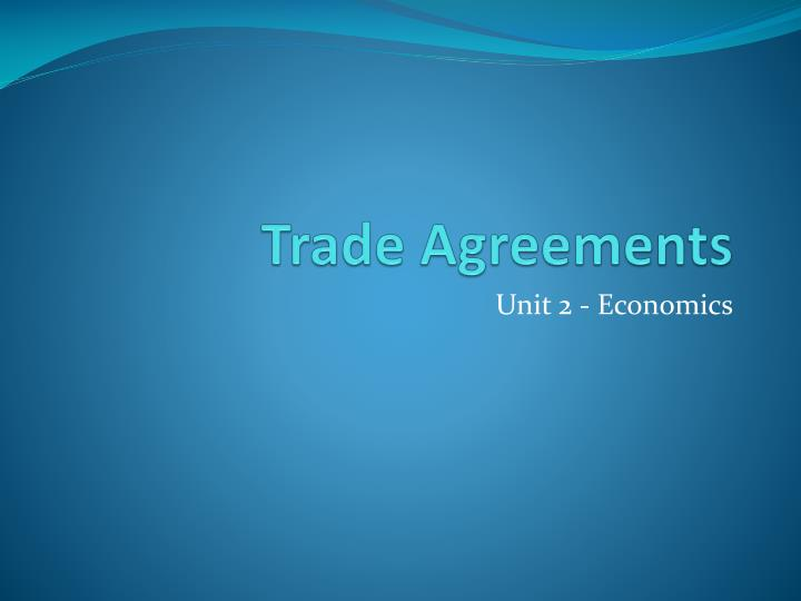 trade agreements n.