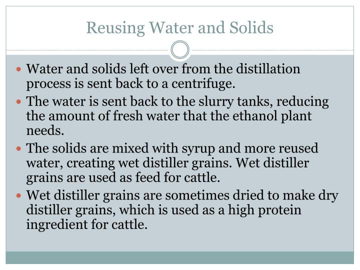 Reusing Water and Solids