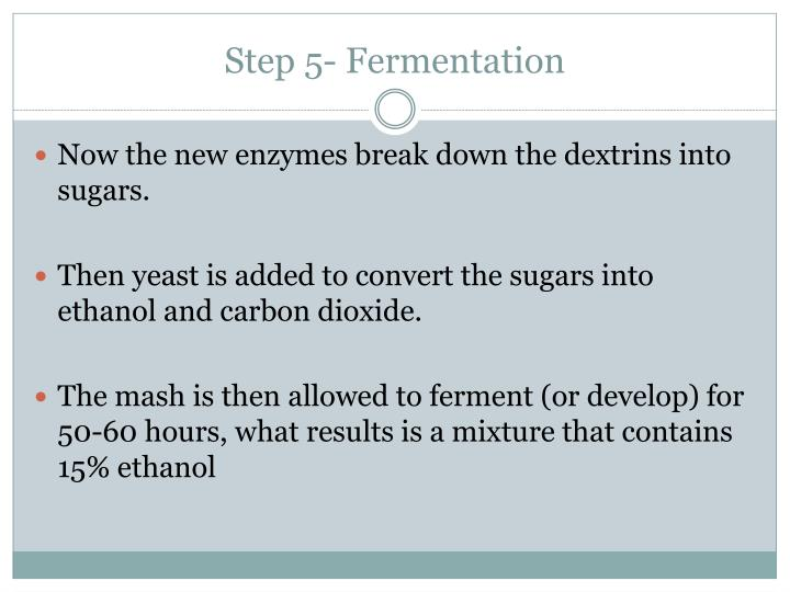 Step 5- Fermentation