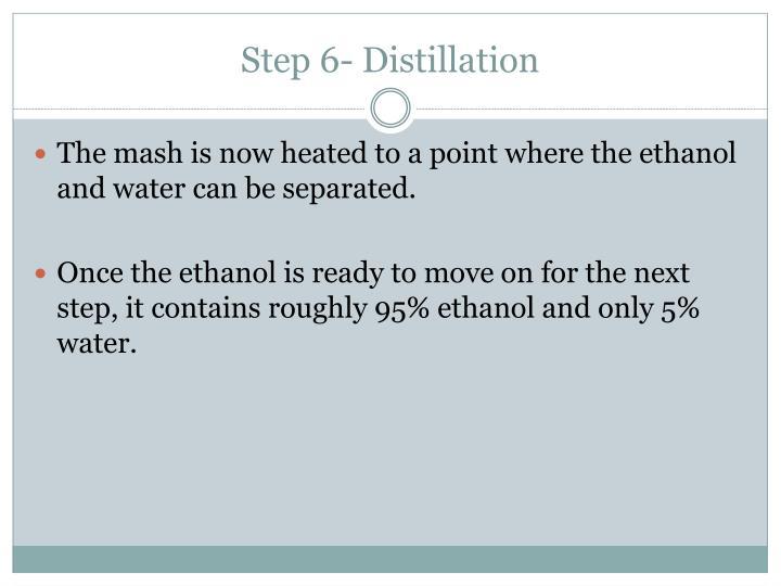 Step 6- Distillation