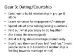 gear 3 dating courtship