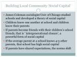 building local community social capital