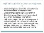 high stress effects a child s development