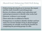 shared goal enhancing child well being