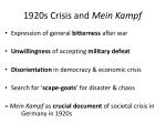 1920s crisis and mein kampf